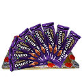 Tempting Present of Eight Pieces Cadbury Dairy Milk Chocolates