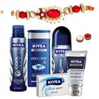 Shower Hour for Men with Nivea Gift Hamper for Men with Rakhi and Roli Tilak Chawal