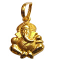 22K Gold Ganesh Pendant From Anjali