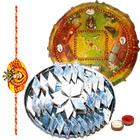 Exotic Multicolored Rakhi with Kaju Katli Bites
