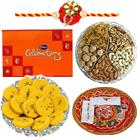 Yummy Cadbury Celebration with Mixed Dry Fruits and Rakhi