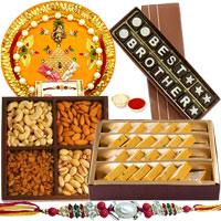 Astonishing Gift of Badam Barfi from <font color=#FF0000>Haldiram</font>s, Mixed Dry Fruits, Homemade Chocolate and Shree Thali