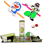 Elegant Madzzle Worldopedia Animal Kingdom from MadRat Games with 2Pcs Fancy Rakhi with Chocolates