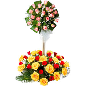 Special Arrangement of  50 Mixed Roses  to India.